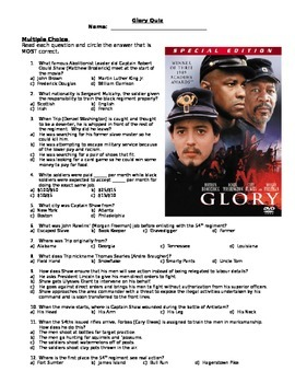 """Glory"" Movie Quiz"