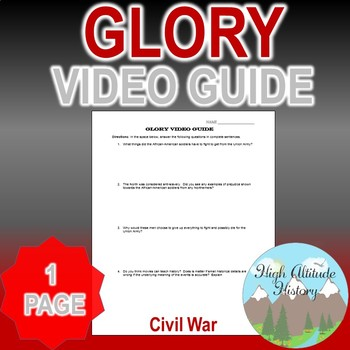 Glory Original Video Guide / Movie Guide Questions