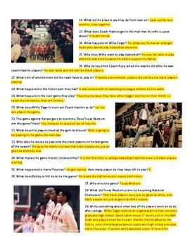 Glory Road Movie Guide & Key