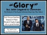 Glory by John Legend and Common Lyric/Poetry Analysis