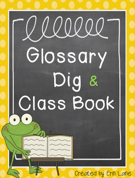 Glossary Dig and Class Book