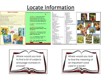 Glossary, Index, Table of Contents Locating Information Practice