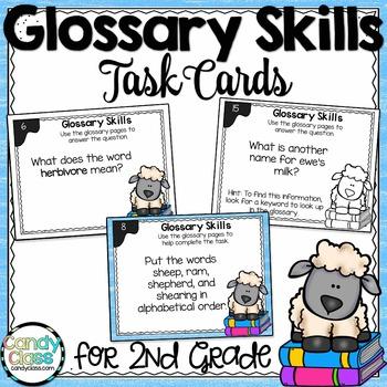 Glossary Skills Task Cards - L.2.4.E