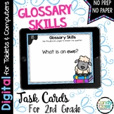 Glossary Skills Digital Task Cards - Paperless for Google