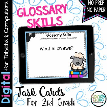 Glossary Skills Task Cards for Google Use