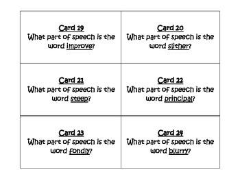 Glossary Task Cards for Journeys 3rd Grade