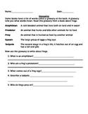Glossary Worksheet