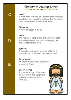 Glossary of Ancient Egypt