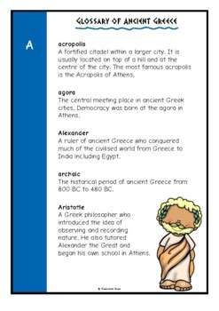 Glossary of Ancient Greeks