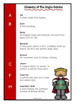 Glossary of the Anglo-Saxons