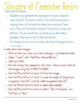 Glossary of Computer Basics