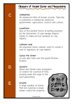 Glossary of Ancient Mesopotamia