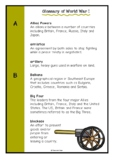 Glossary of World War One