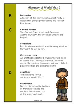 Glossary of World War One