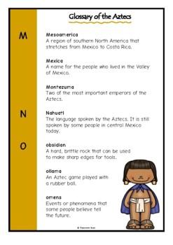 Glossary of the Aztecs