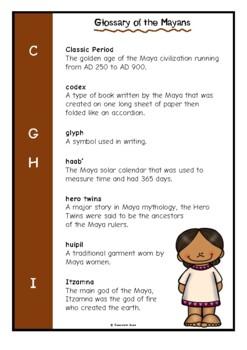 Glossary of the Maya