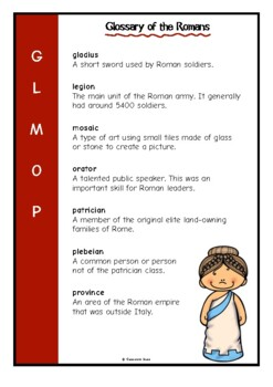 Glossary of the Romans