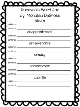 Glossary to use with Harcourt- 4th grade