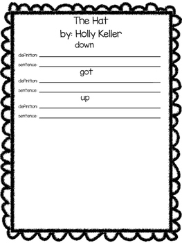 Glossary to use with Harcourt Trophies- 1st grade
