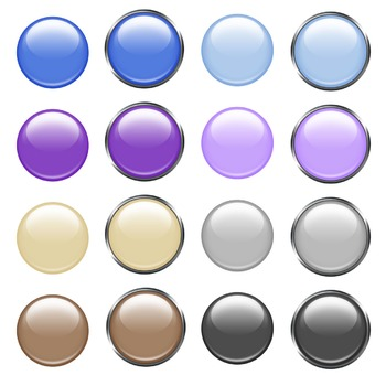 Glossy Buttons Digital Clip Art PNG files