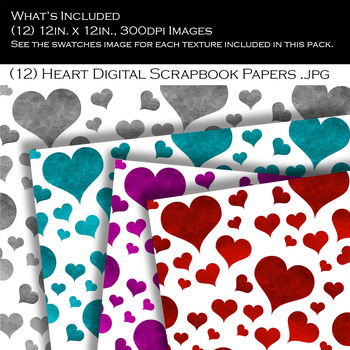 Glossy Color Heart Pattern Backgrounds
