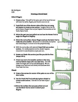 Gloved Hand - SketchUp (Computer Art Assignment 17)
