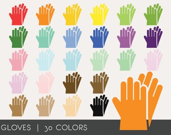 Gloves Digital Clipart, Gloves Graphics, Gloves PNG, Rainbow Gloves Digital