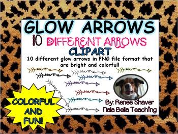 Glow Arrows Digital Clipart