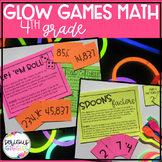 #TpTFireworks Math Review 4th Grade - Glow Day