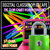 Glow Day Games Digital Escape Room 5th Grade Math Review Test Prep Neon Fun