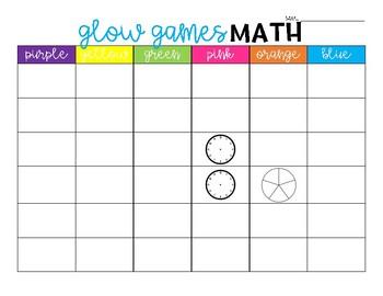 Glow Games Math FREEBIE