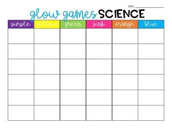 Glow Games Science FREEBIE