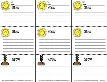 Glow Glow Grow (Spanish and English!)