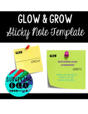 Glow & Grow Feedback | Sticky Note Template