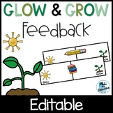Glow and Grow Feedback, Reflection, & Goal Setting (Distance Learning)