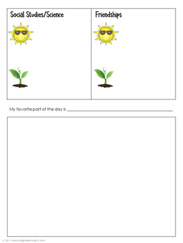 Glow & Grow Goal-Setting: Reflection Sheets for Parent-Teacher Conferences