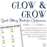 Glow & Grow Goal-Setting: Reflection Sheets for Parent-Tea