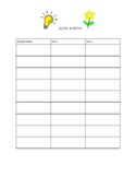 Glow & Grow Student Conference Sheet