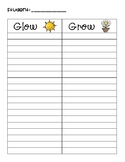 Glow & Grow Writing Conferences Page