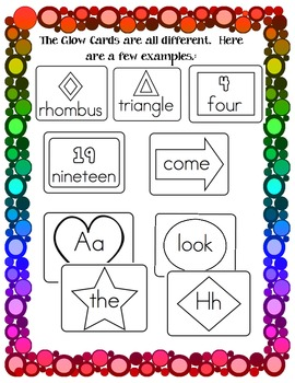Glow Letters, Sight Words, Numbers, And Shapes