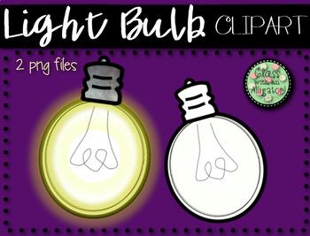 Glow Light Bulb Clip Art