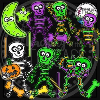 Glow Skeleton Clipart