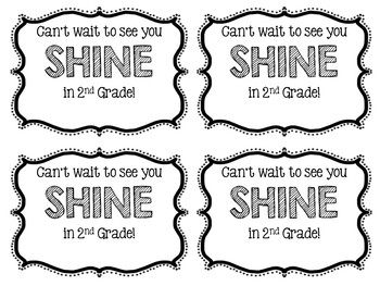 Glow Stick Back to School Tags