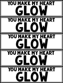 Glow Stick Gift Tags