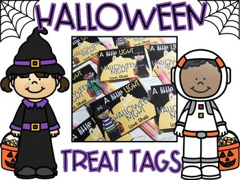 Glow Stick Treat Tags - A Little Light for Halloween Night