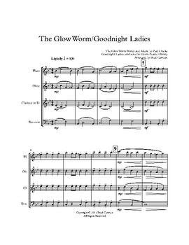 Glow Worm & Goodnight Ladies for Woodwind Quintet