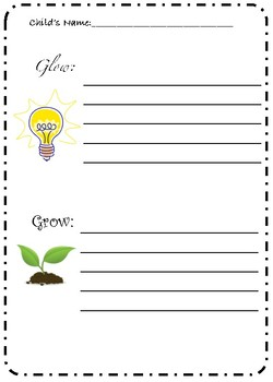 Glow and Grow Conference Form - FREEBIE