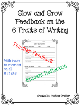 Glow and Grow Feedback on the Six Traits of Writing