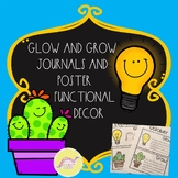 Glow and Grow Journals and Poster Functional Decor