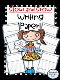 Glow and Grow Lined Writing Paper!